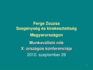 Ferge Zsuzsa Szegénység és kirekesztettség Magyarországon