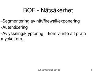 BOF - Nätsäkerhet