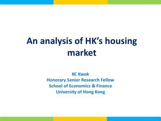 An analysis of HK's housing market