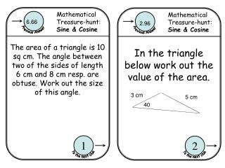 Mathematical Treasure-hunt:  Sine & Cosine