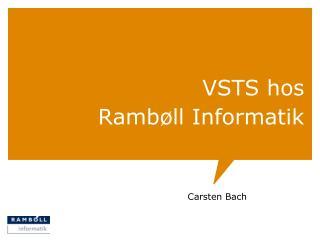 VSTS hos Rambøll Informatik
