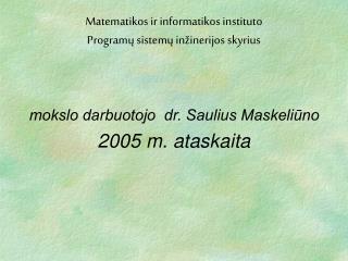 2005 m. ataskaita
