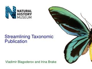 Streamlining Taxonomic Publication