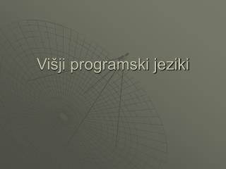 Višji programski jeziki