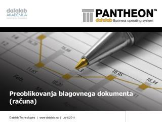 Preoblikovanja blagovnega dokumenta (računa)