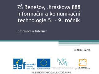 Informace a Internet