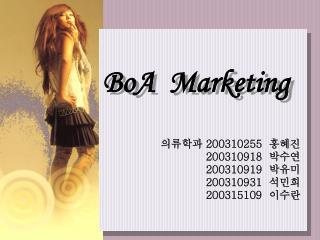 BoA  Marketing
