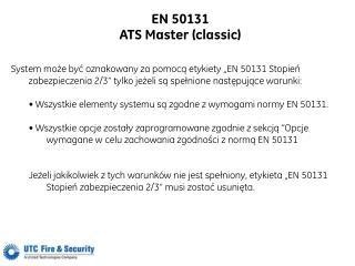 EN 50131 ATS Master (classic)