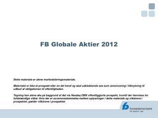 FB Globale Aktier 2012