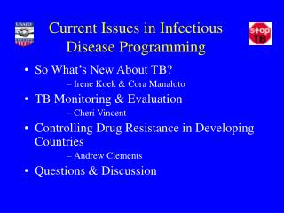Current Issues in Infectious Disease Programming