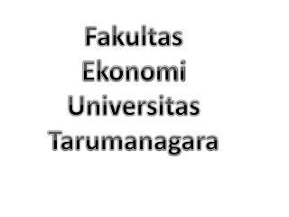 Fakultas Ekonomi Universitas Tarumanagara