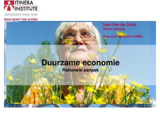 Duurzame economie Rationele aanpak