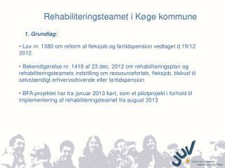 Rehabiliteringsteamet i Køge kommune