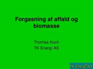 Forgasning af affald og biomasse