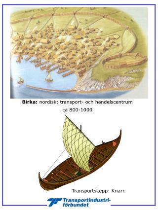 Birka:  nordiskt transport- och handelscentrum  ca 800-1000