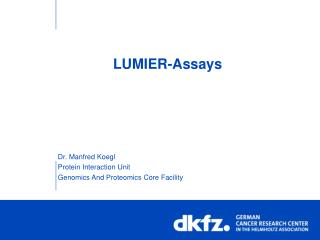 LUMIER-Assays