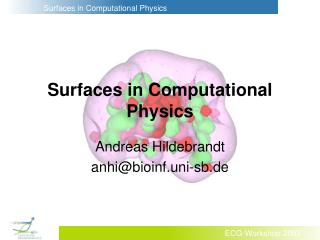 Surfaces in Computational Physics