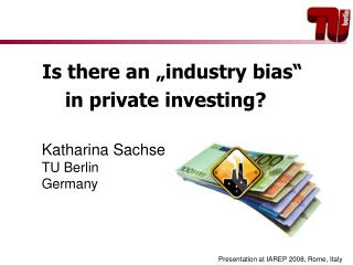 """Is there an """"industry bias""""  in private investing?"""