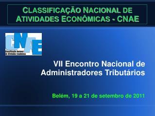 C LASSIFICAÇÃO  N ACIONAL DE  A TIVIDADES  E CONÔMICAS  - CNAE