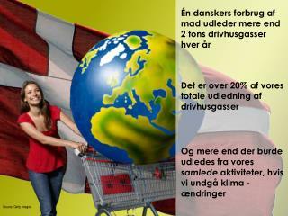 Én danskers forbrug af mad udleder mere end  2 tons drivhusgasser hver år