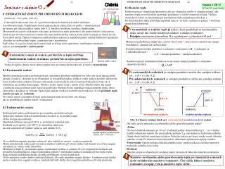 8  ENERGETICKÉ ZMENY PRI CHEMICKÝCH REAKCIÁCH     (Chémia pre  1. roč. gymn. s.105-114;