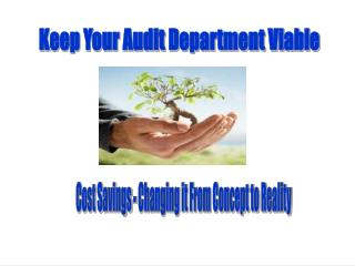 Keep Your Audit Department Viable