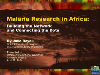 Malaria Research in Africa:
