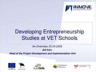 Developing Entrepreneurship Studies at VET Schools