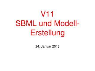 V11 SBML und Modell-Erstellung