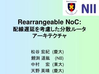 Rearrangeable NoC: ?????????????? ???????