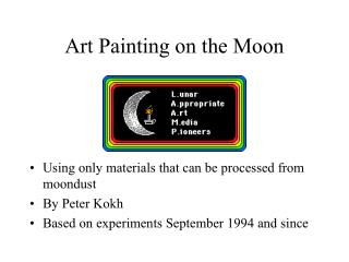 Art Painting on the Moon