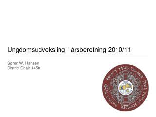 Ungdomsudveksling - årsberetning 2010/11