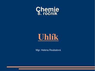 Chemie  8. ročník