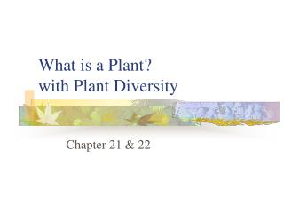 What is a Plant?  with Plant Diversity