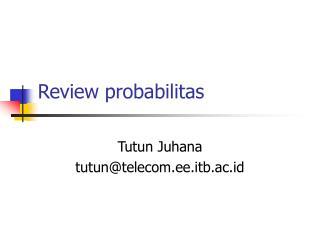 Review probabilitas