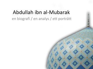 Abdullah ibn al-Mubarak