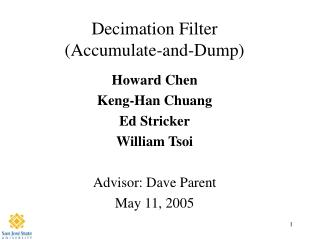 Decimation Filter Accumulate-and-Dump