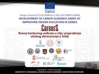 Razvoj karijernog vođenja  u  cilju unapređenja visokog obrazovanja u Srbiji