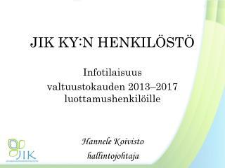 JIK KY:N HENKILÖSTÖ