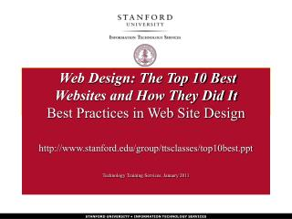 stanford/group/ttsclasses/top10best Technology Training Services, January 2011