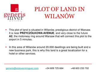 PLOT OF LAND IN WILANÓW
