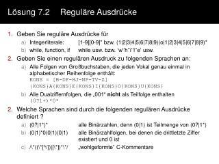 Lösung 7.2Reguläre Ausdrücke