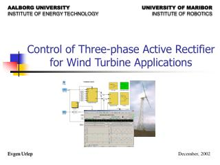 Control of Three-phase Active Rectifier for Wind Turbine Applications