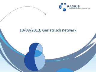 10/09/2013, Geriatrisch netwerk