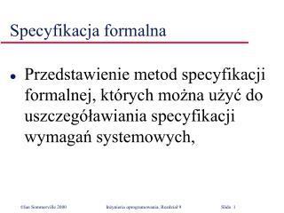 Specyfikacja formalna