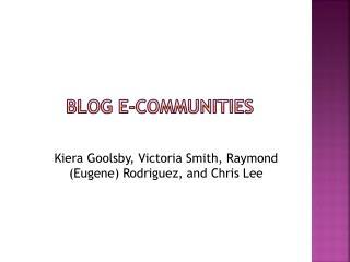 Blog e-communities
