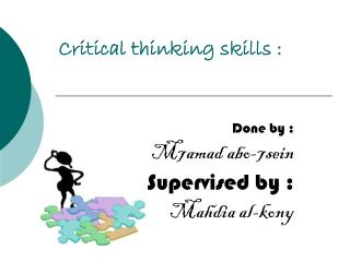 Critical thinking skills :