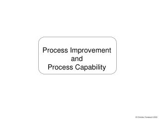 Process Improvement and Process Capability