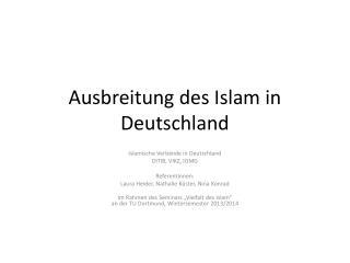 Ausbreitung des Islam in Deutschland