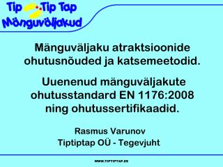 Rasmus Varunov Tiptiptap OÜ - Tegevjuht
